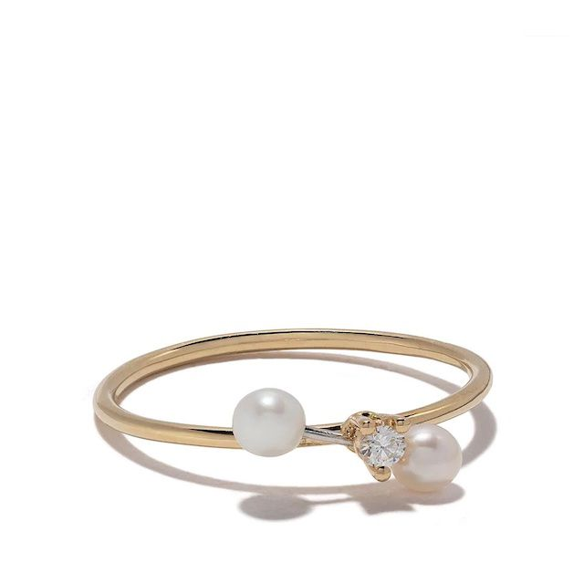 Delfina Delettrez Two In One Diamond and Pearl Ring