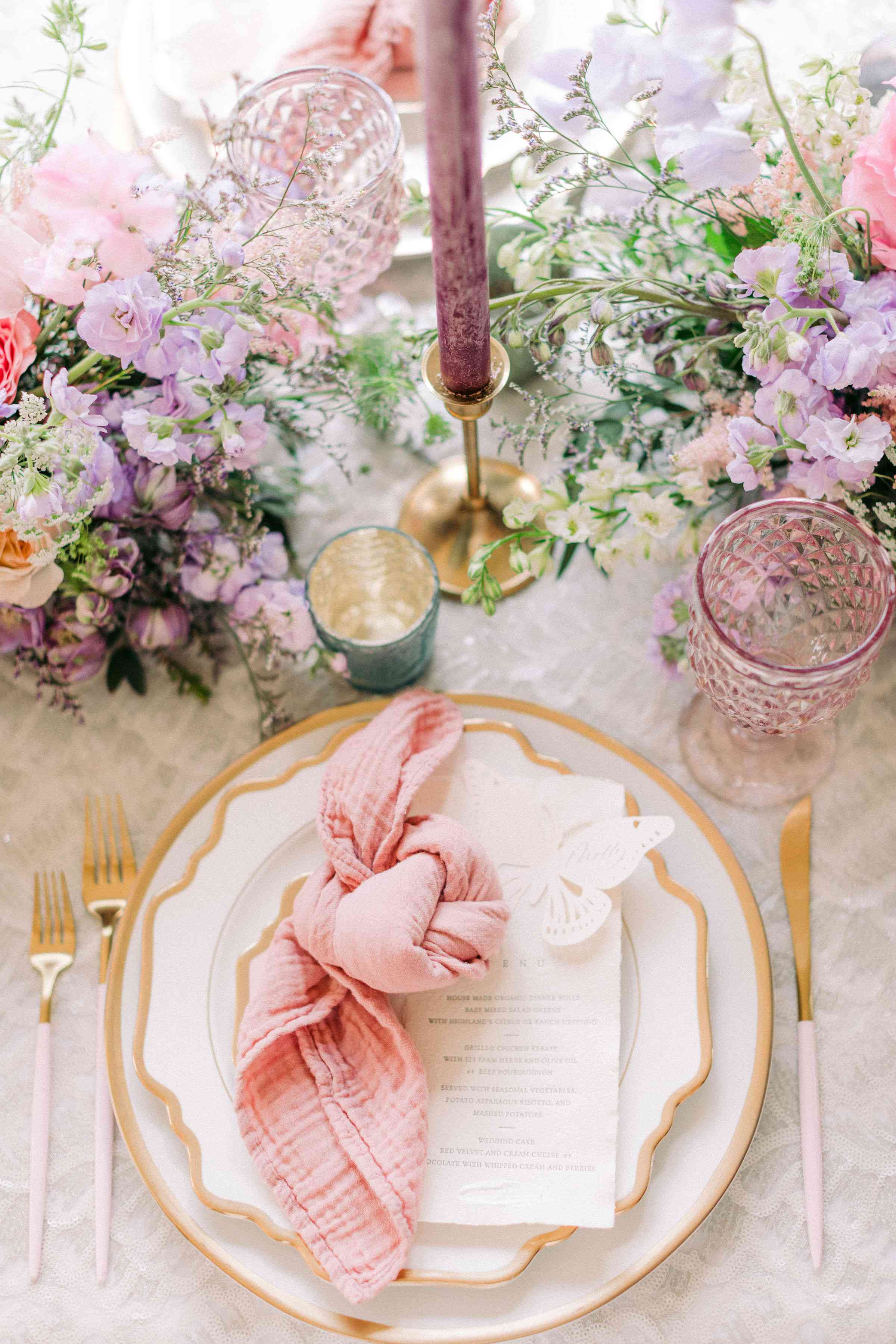 textured tablescape
