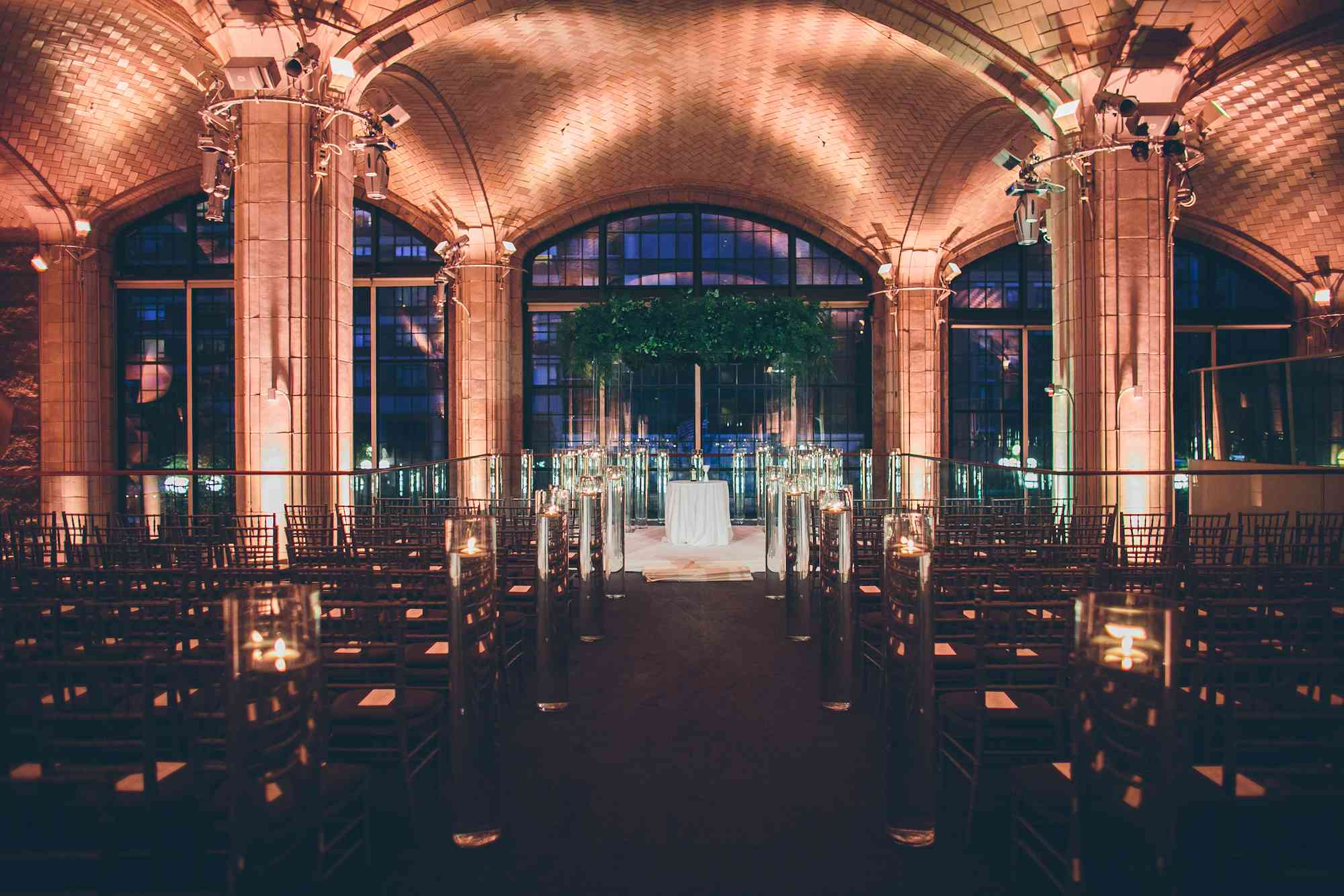 Show-Stopping Ceremony Décor Without a Single Flower? This