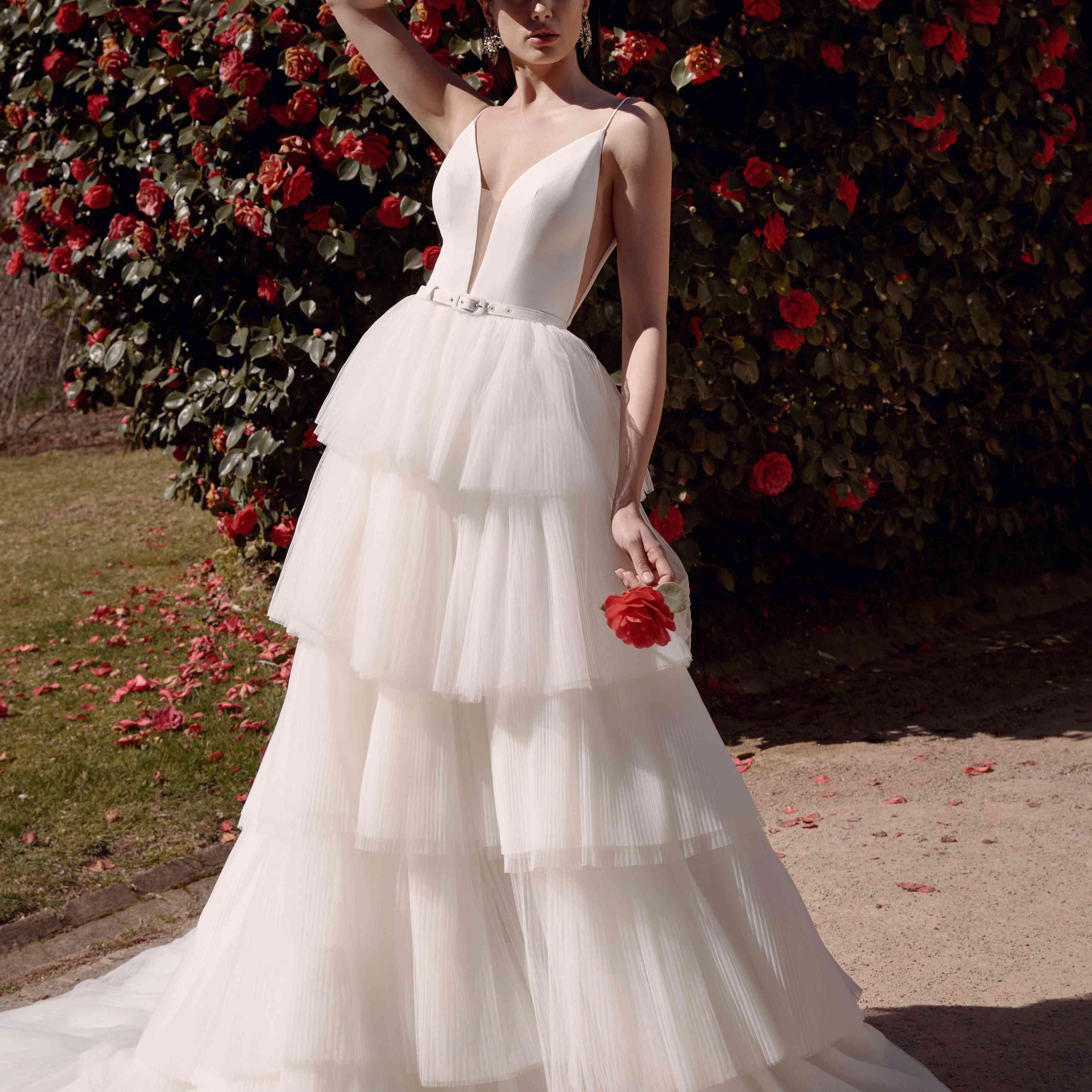 Remy tiered wedding skirt
