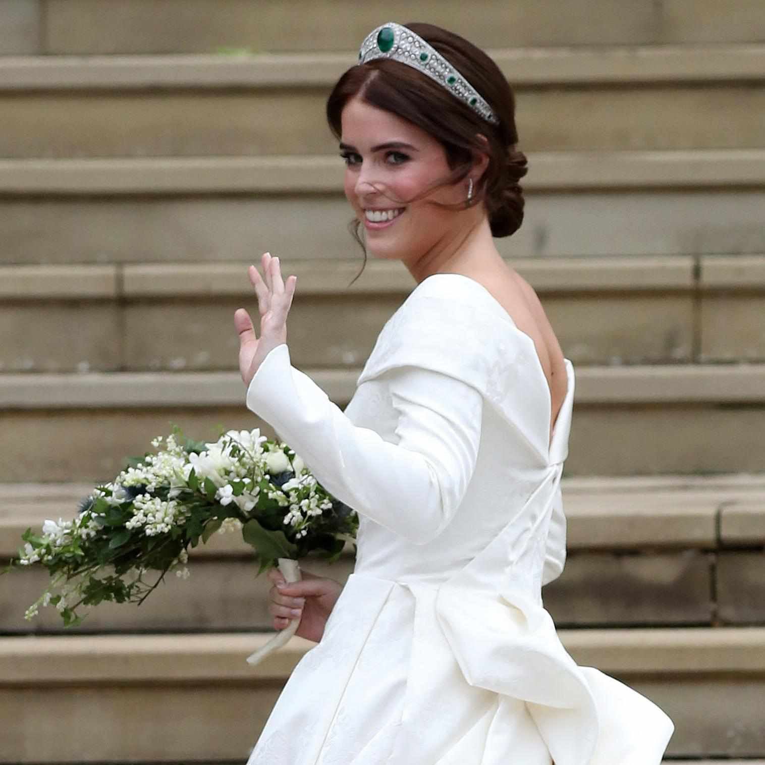 here's how princess eugenie's royal wedding dress compares
