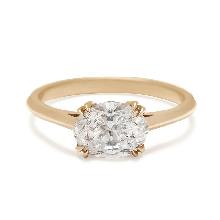 Anna Sheffield Bea East/West Solitaire Ring