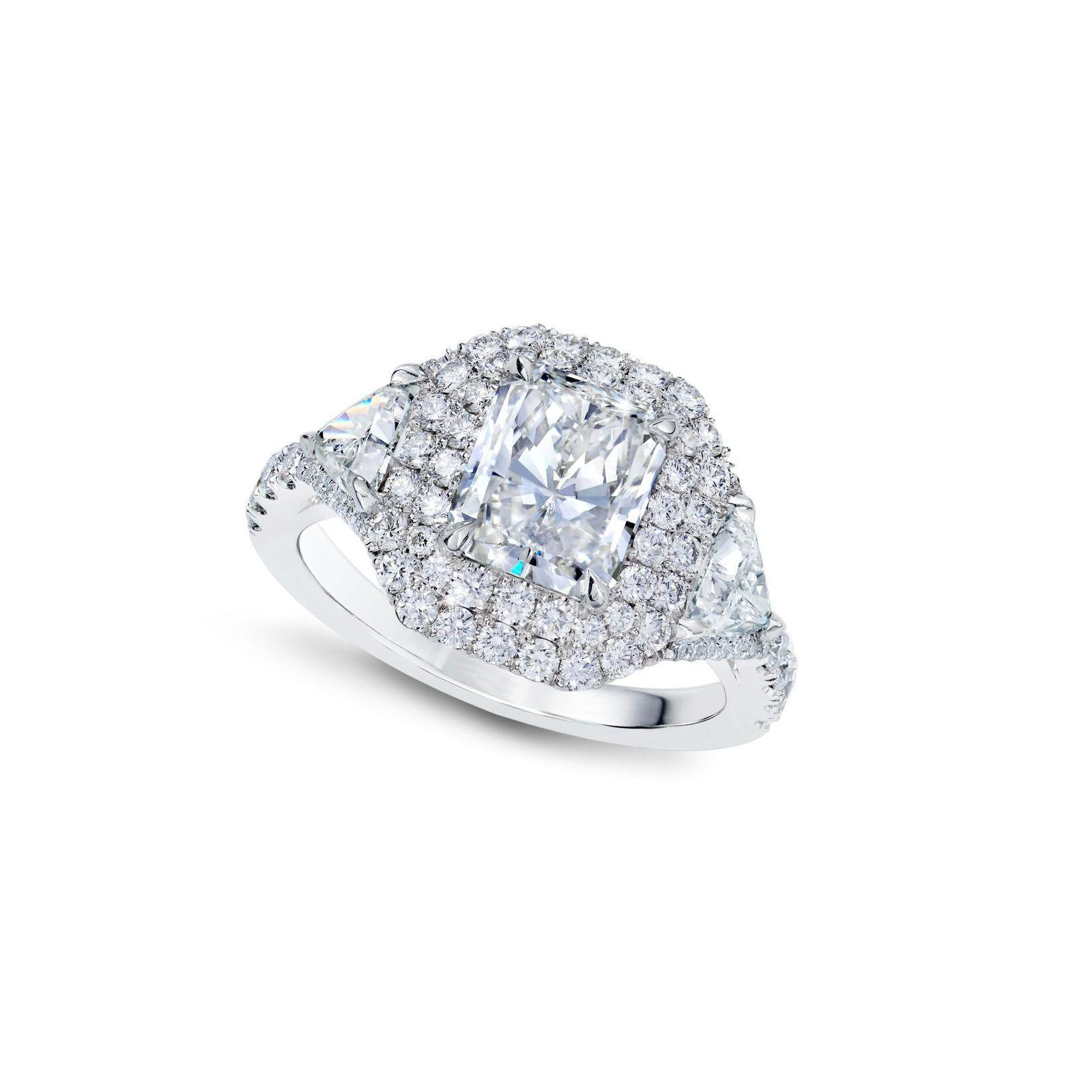 Lauren Addison Radiant-Cut Diamond Engagement Ring