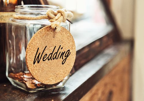 Wedding money jar