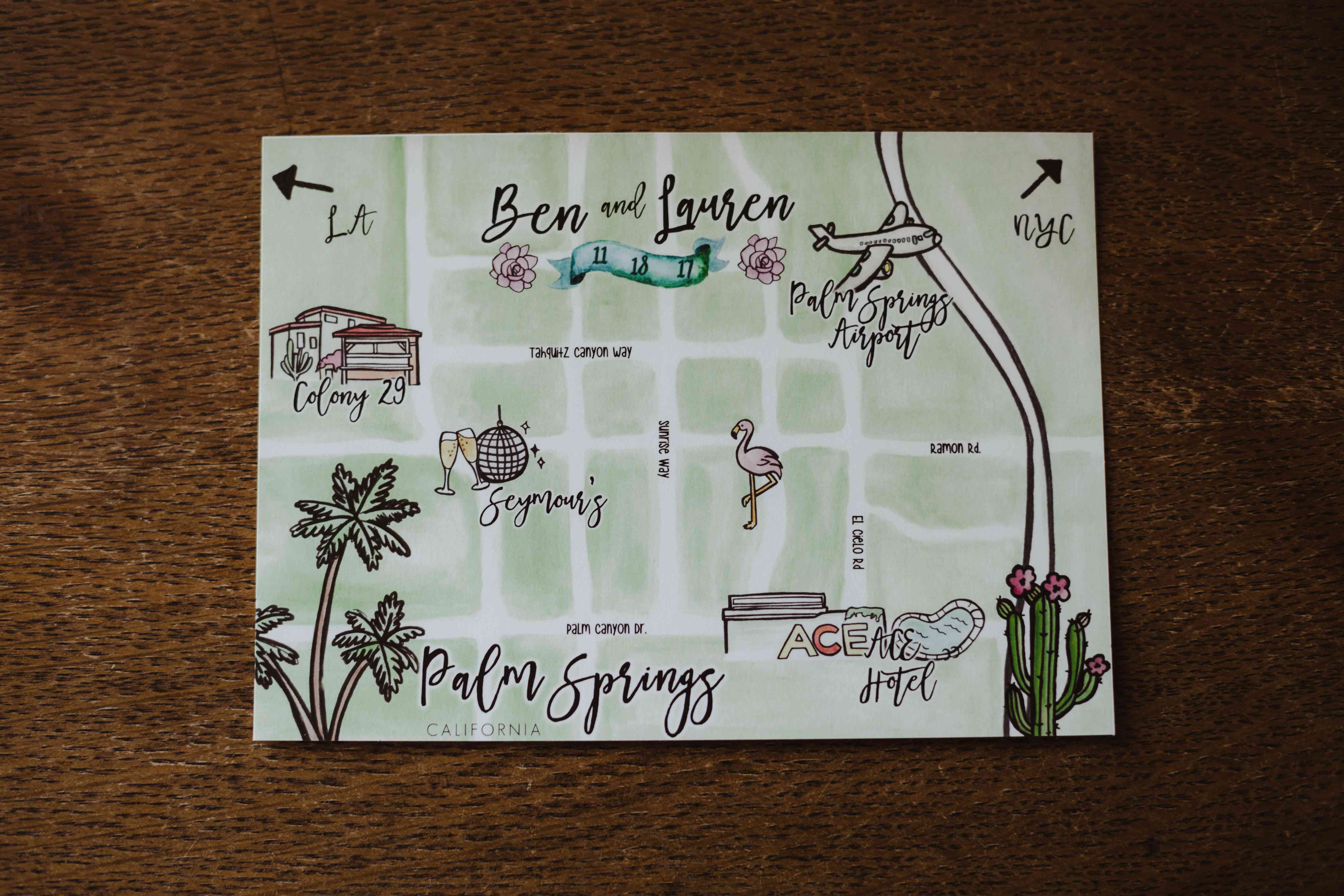 Wedding map design