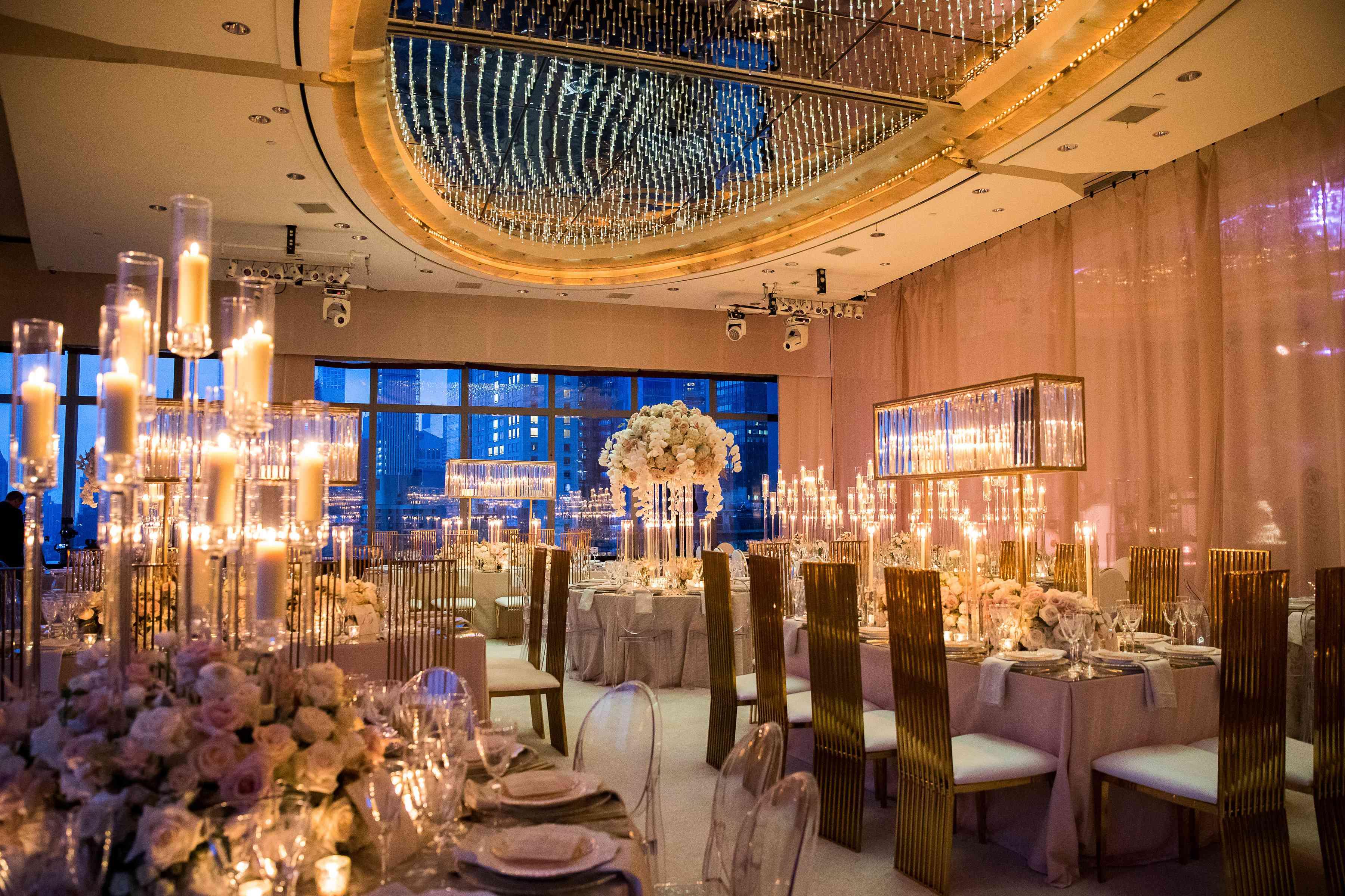 gilded reception decor