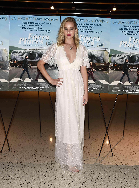 Jennifer Lawrence 2017 Faces Places Premiere