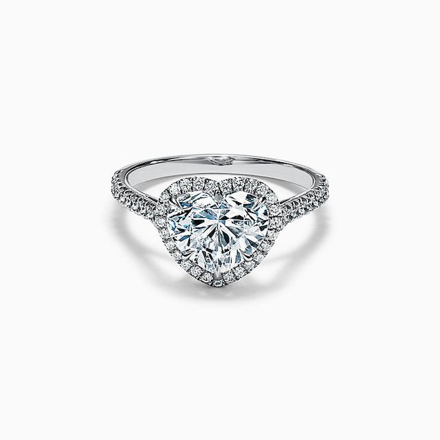 Tiffany Soleste Heart-Shaped Diamond Platinum Engagement Ring