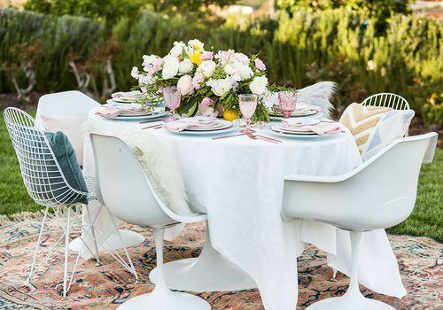 <p>Contemporary Reception Table</p>