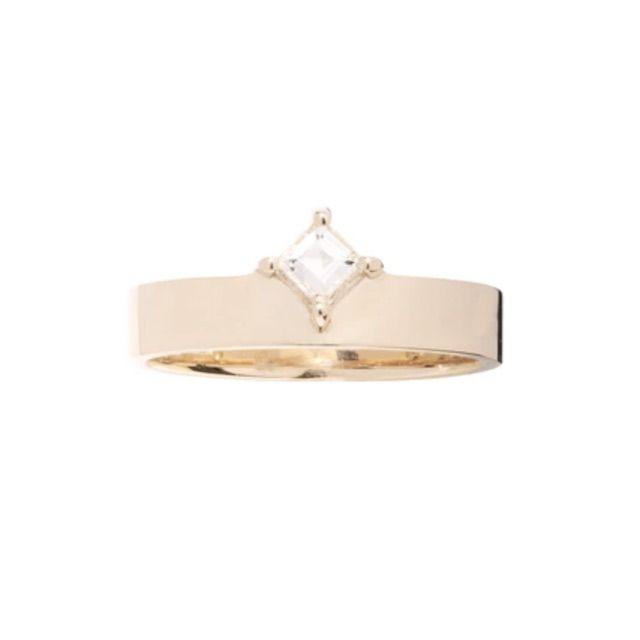 WWAKE Carre Diamond Monolith Ring