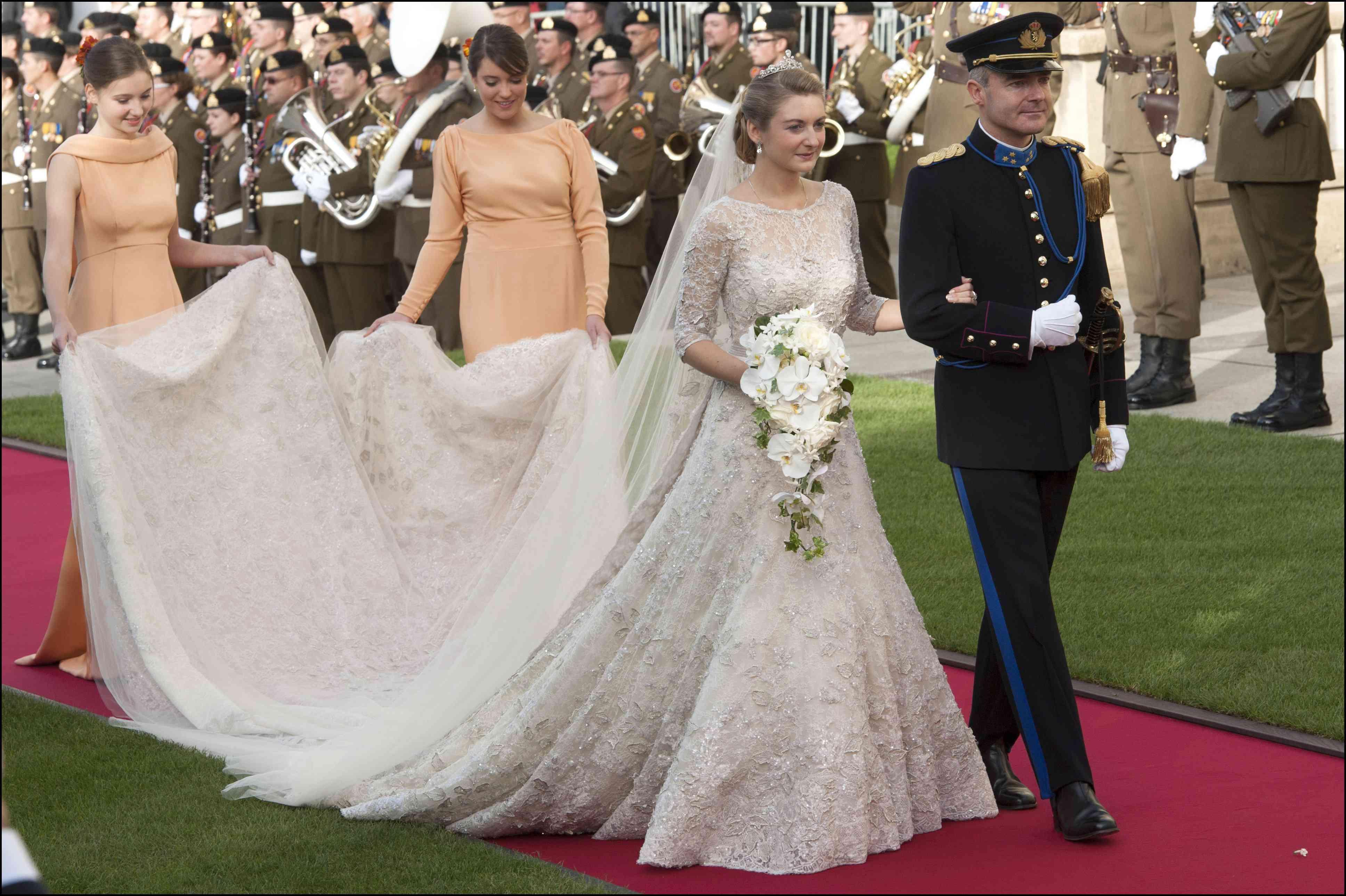 Stephanie de Lanno on her wedding day