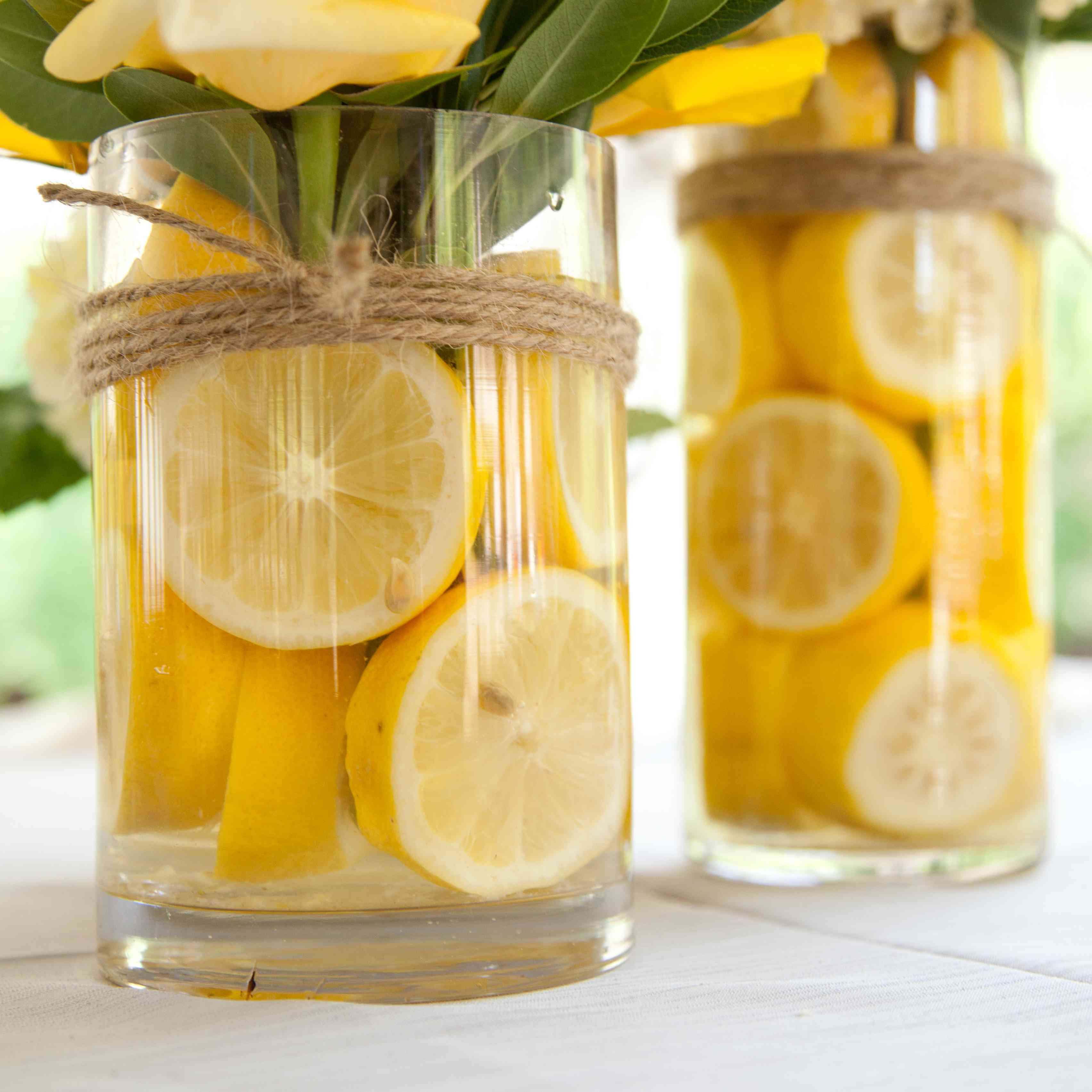 Lemons used as a centerpieces