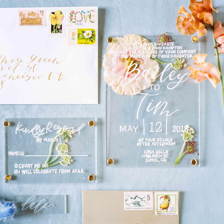 19 Pretty Pressed Flower Wedding Details