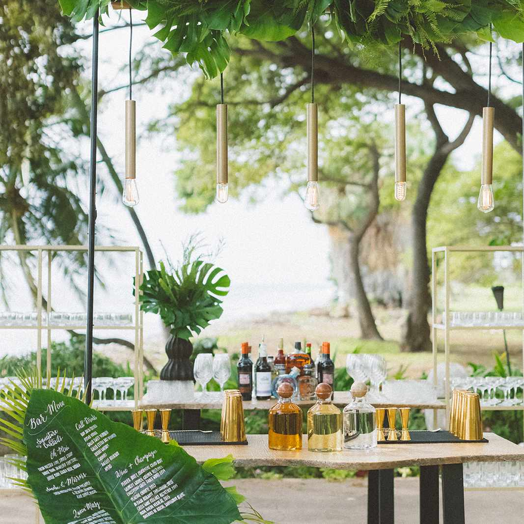 palm leaf bar menu