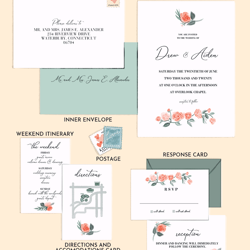 Reception Following Ceremony Wording: Wondering What To Include In A Wedding Invitation Suite