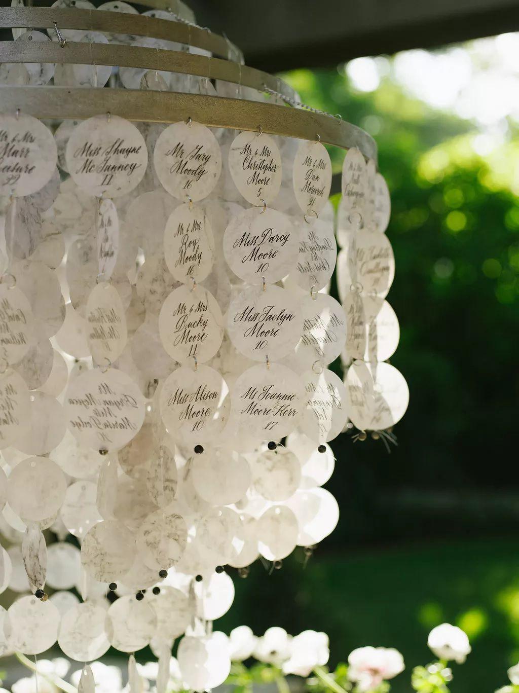 escort display chandelier