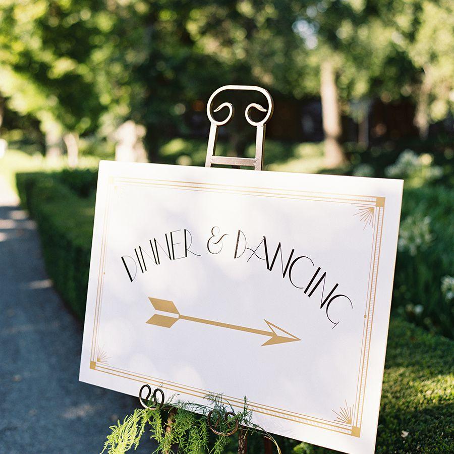 Vintage inspired wedding signage