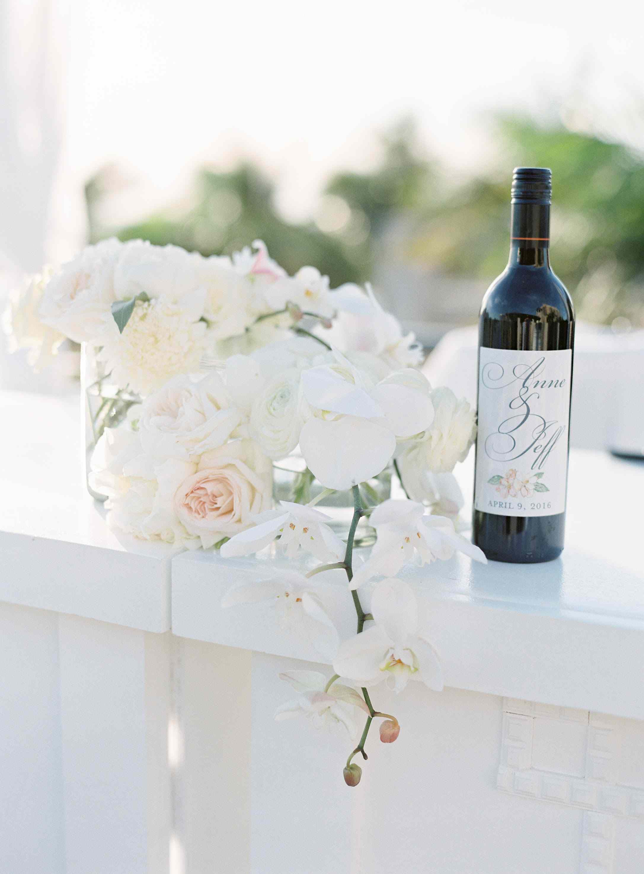 Customized Wine Labels With Calligraphed Name