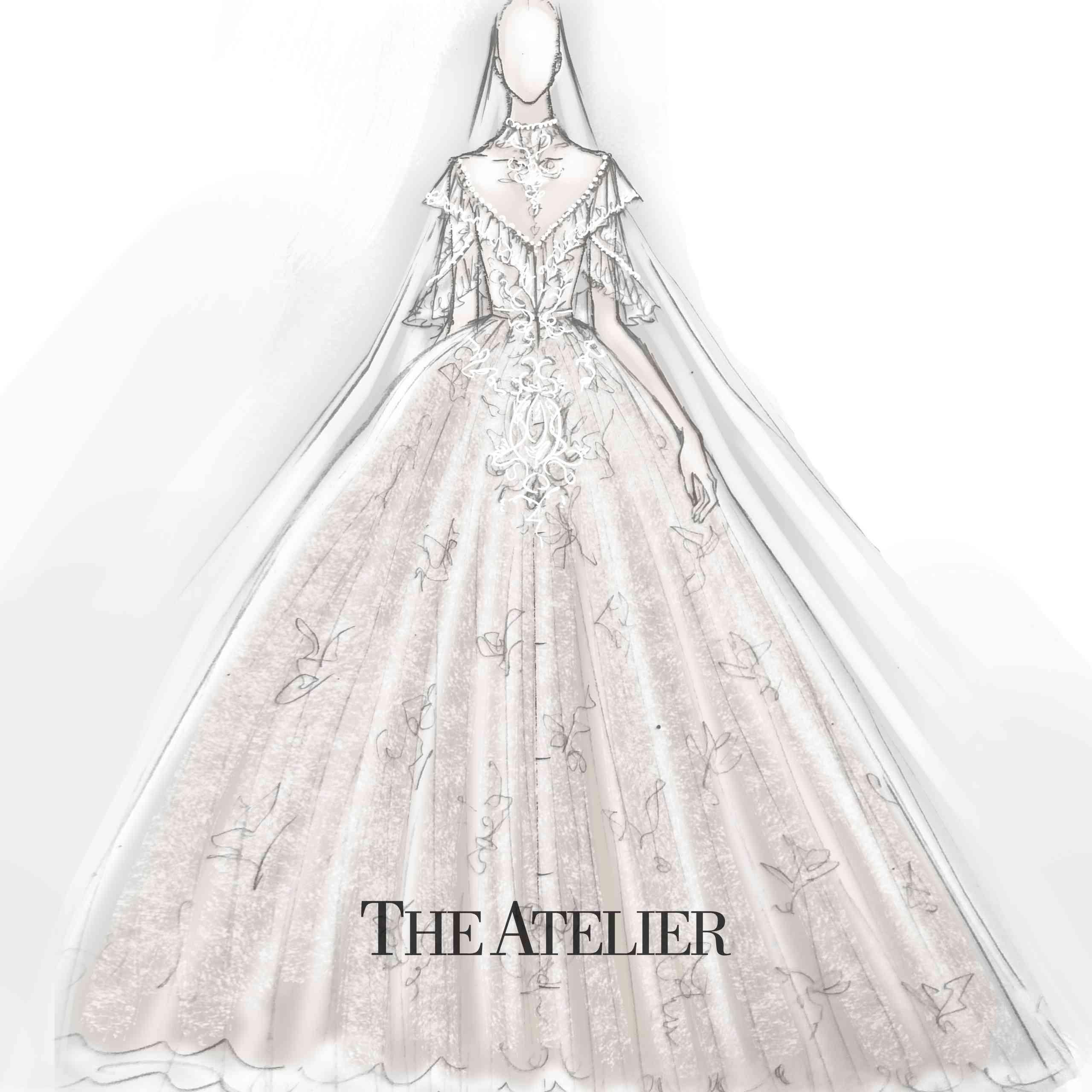 The Atelier Bridal Fashion Week Fall 2020 Sketch