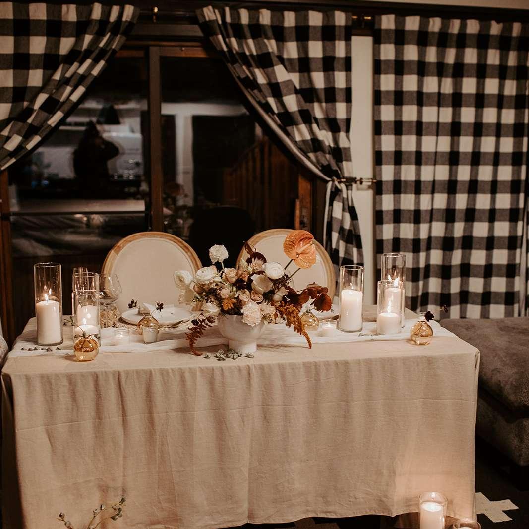 The reception decor