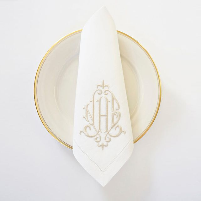 Monogram Linen Napkin
