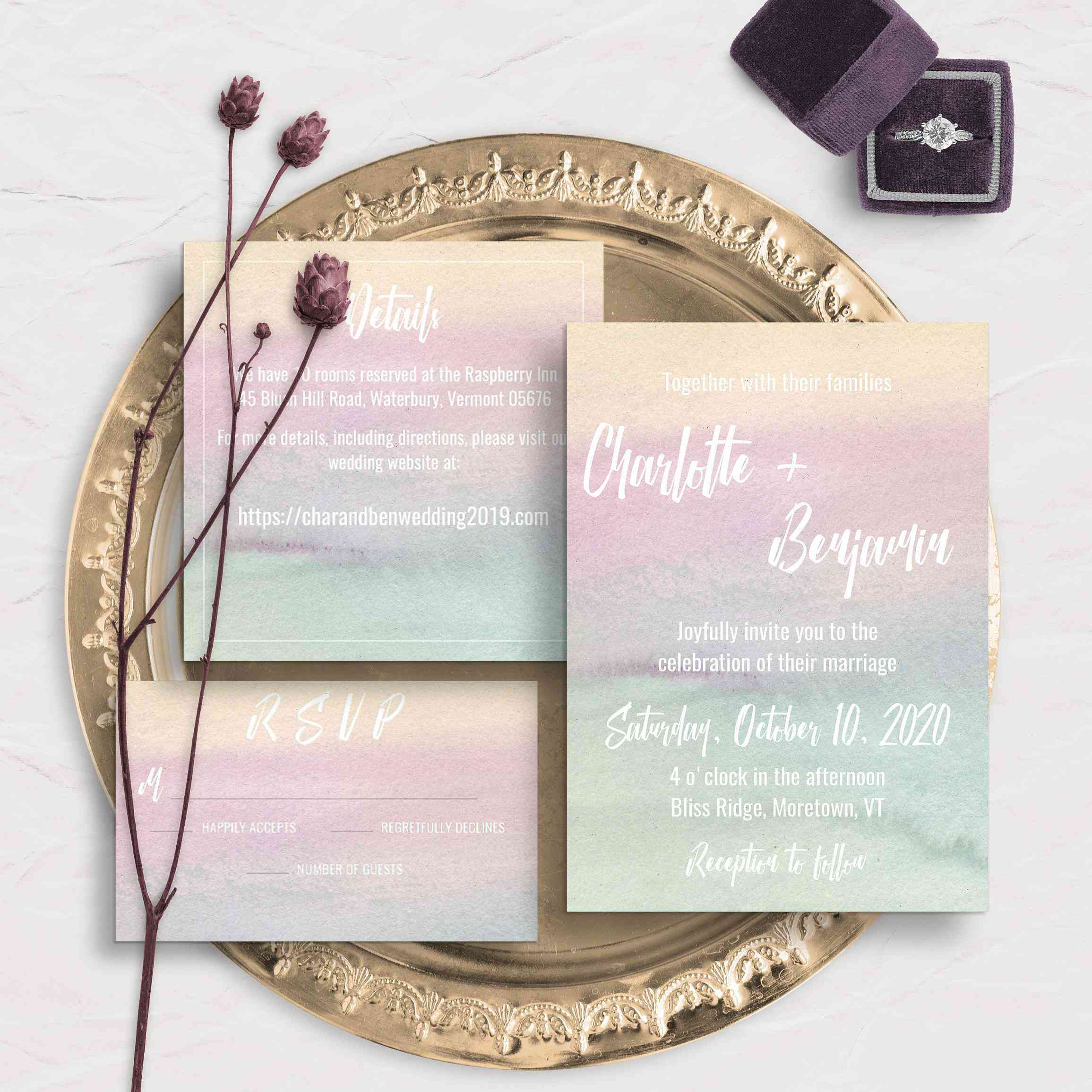 d3790fc1d1e2b 11 Watercolor Wedding Invitations That Are Too Pretty for Words