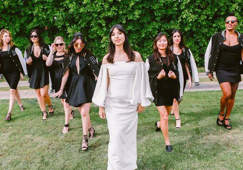Bridal Party in Matching Varsity Jackets