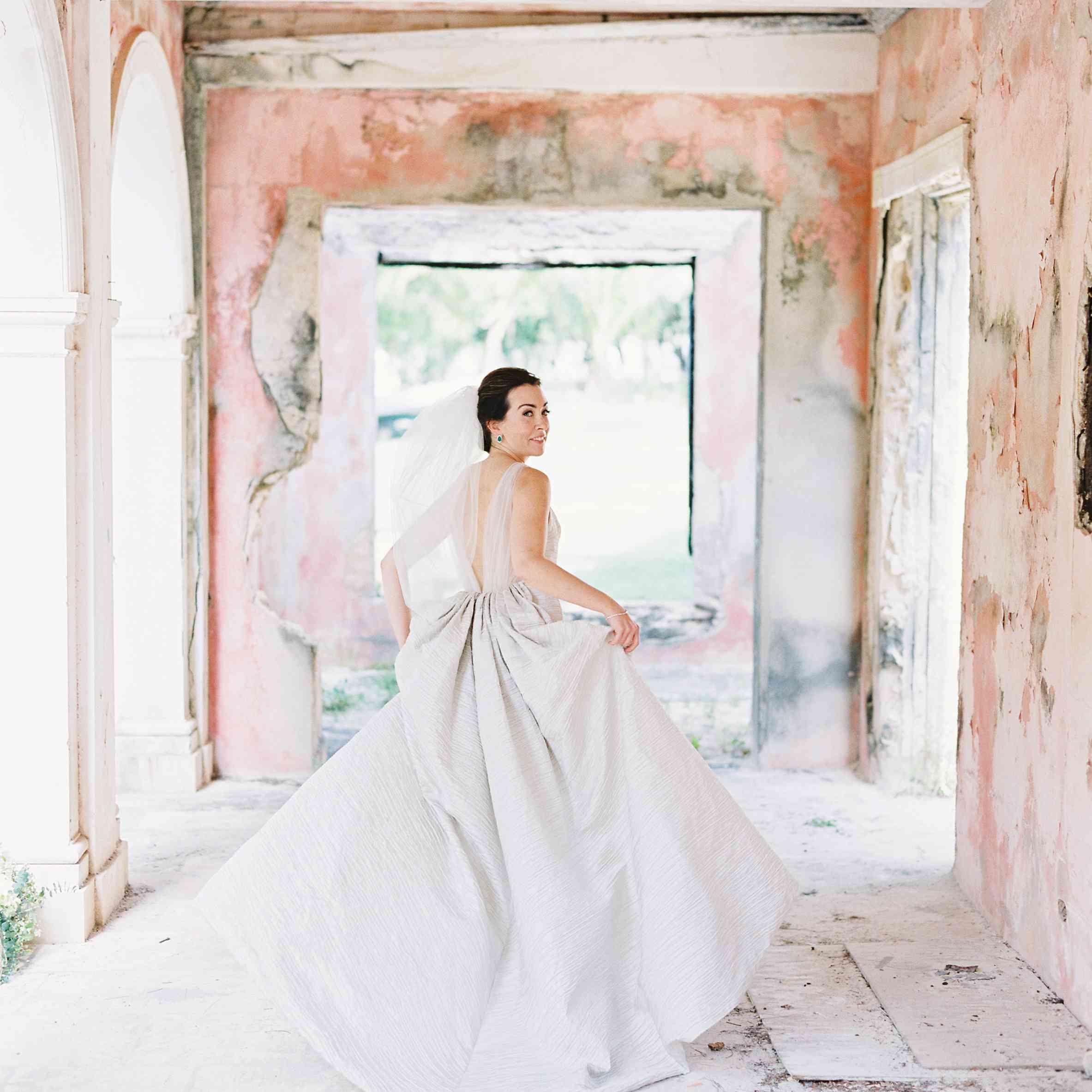 <p>back of wedding dress</p><br><br>