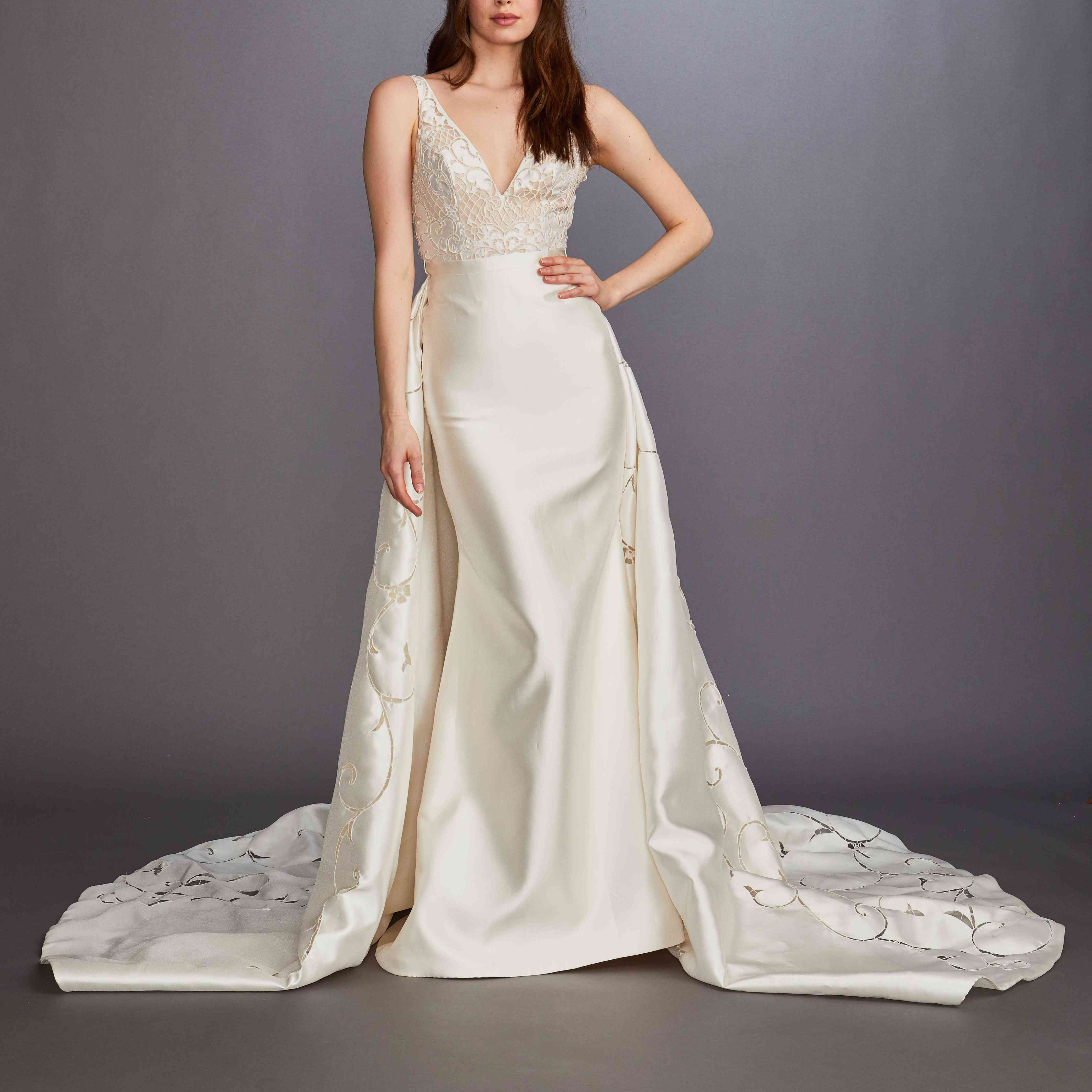 Aster fit-and-flare wedding dress lazaro