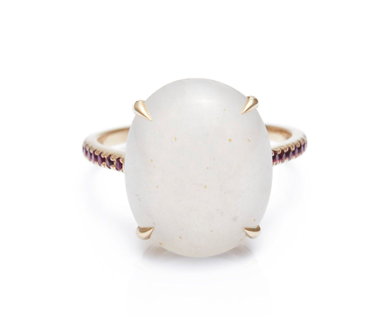 Yi Collection Jade and Ruby Globe Ring