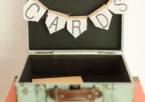 <p>Suitcase Wedding Card Box Idea</p>