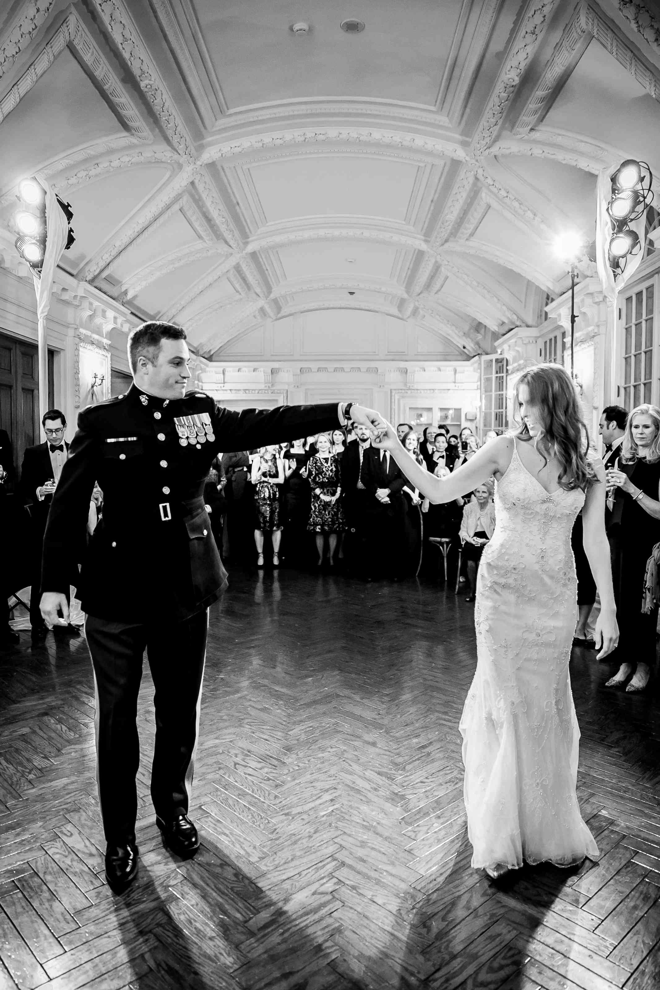 Bride and groom first dance