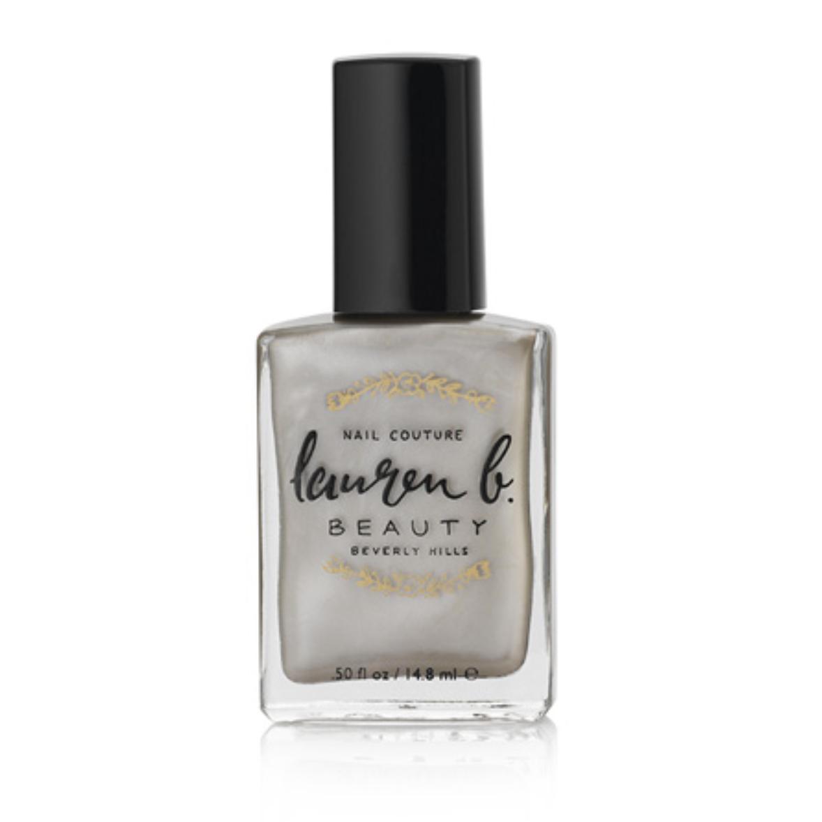Lauren B. Beauty nail polish in Dancing Shoes, a metallic taupe shade