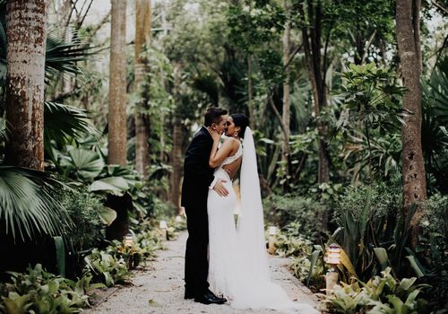 Adam Rusnak and Megan Allen were married at Hacienda Xcanatun in Mérida.