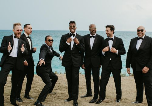 <p>groom and groomsmen</p>