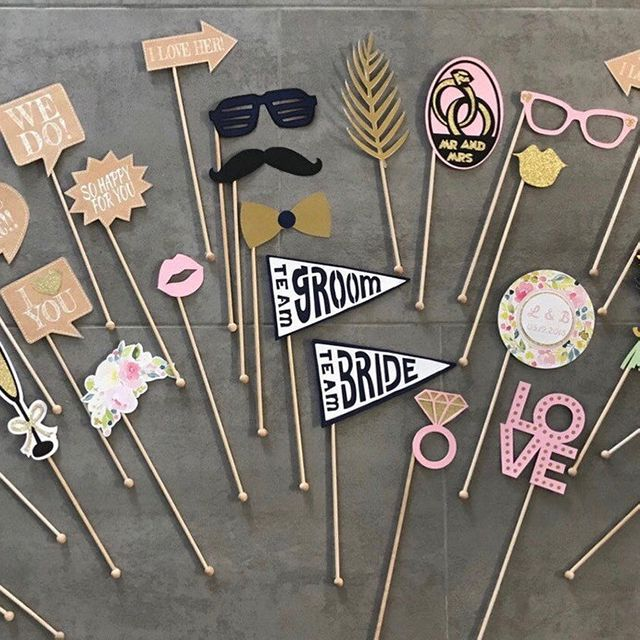 Etsy Vintage Wedding Photo Booth Props