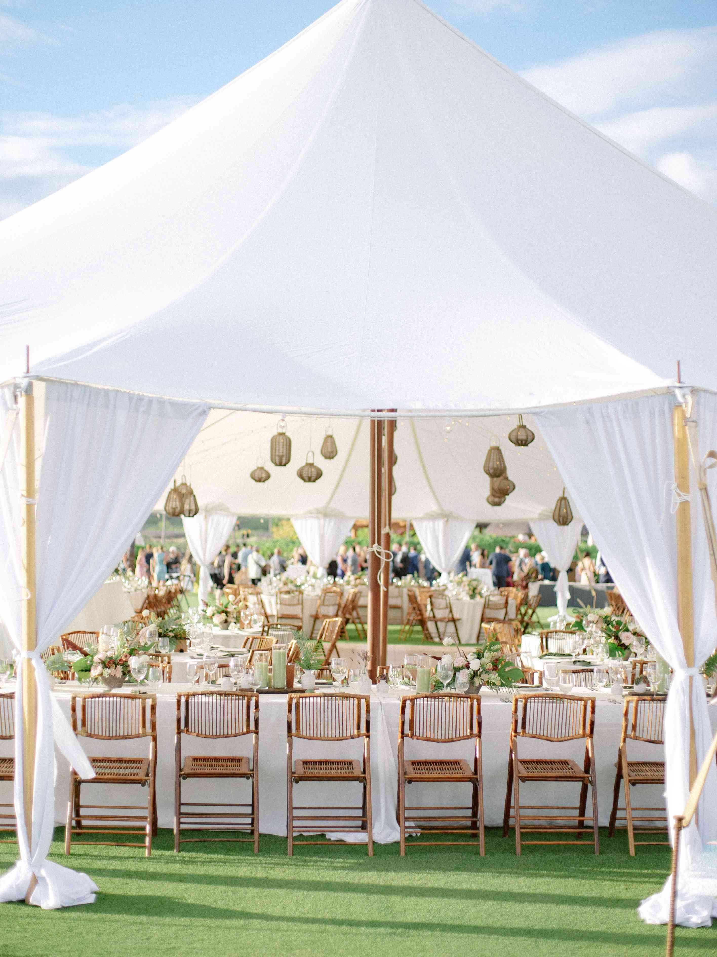 Reception tent from afar