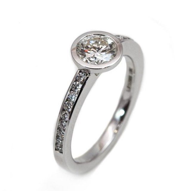 Oliver Smith Bezel and Channel Set Ring