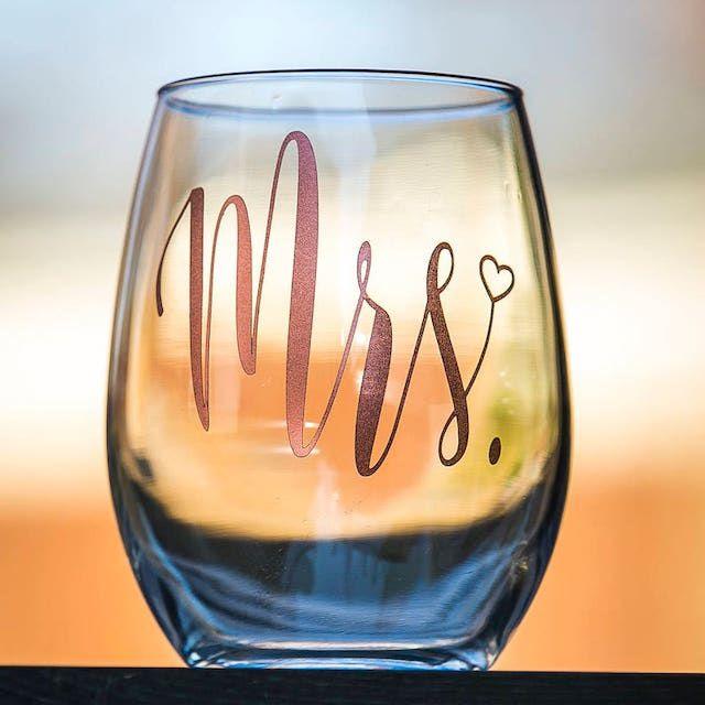 Mrs. wine glass