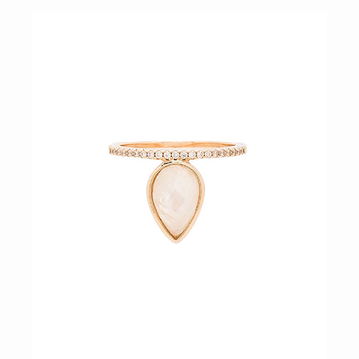 Moonstone Teardrop Ring
