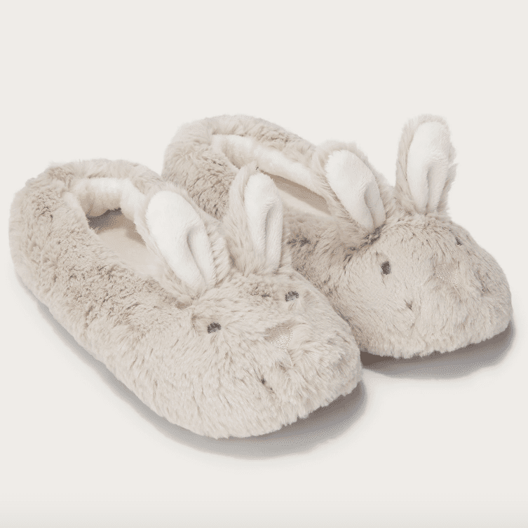 The White Company Bunny Slippers