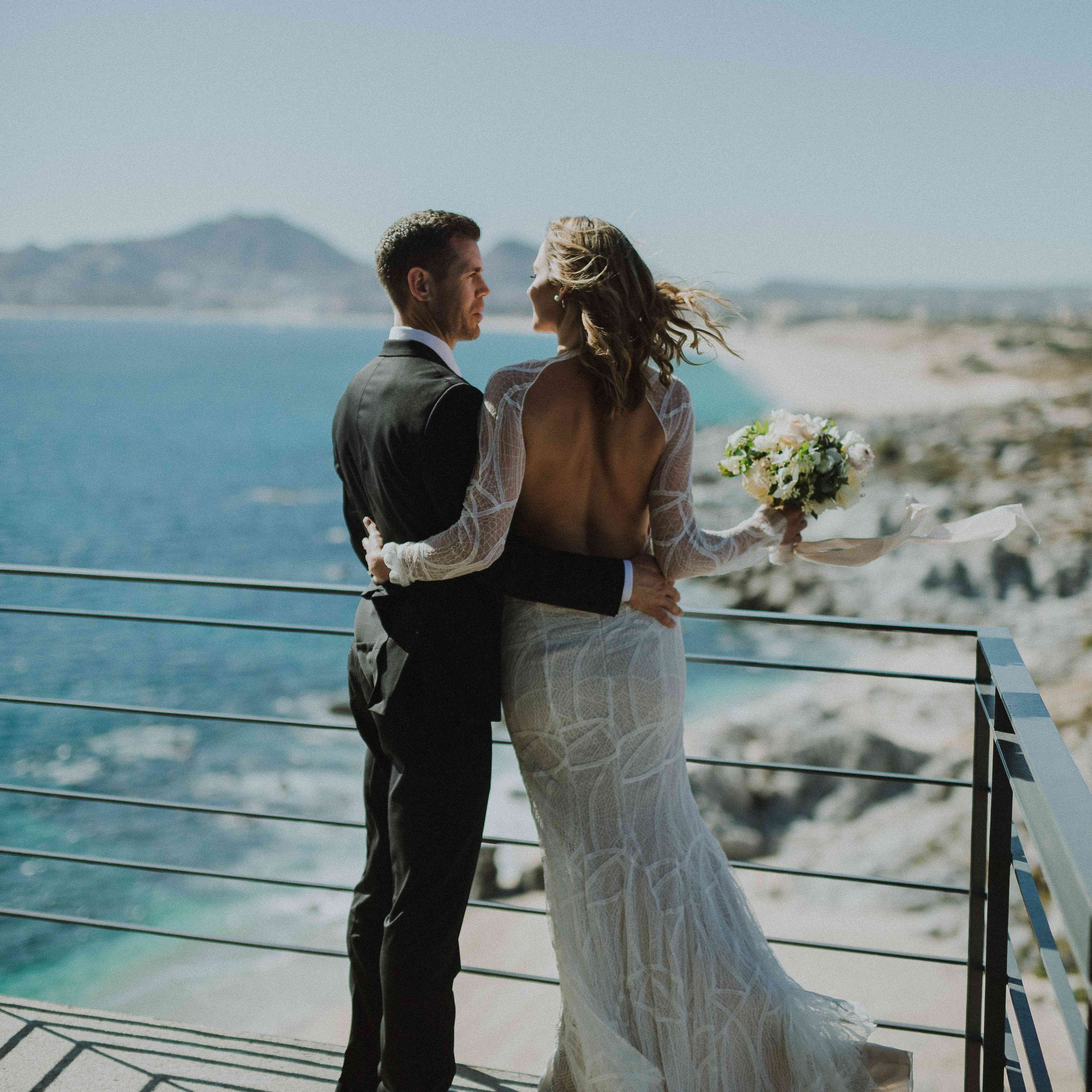 Bride and Groom at The Cape