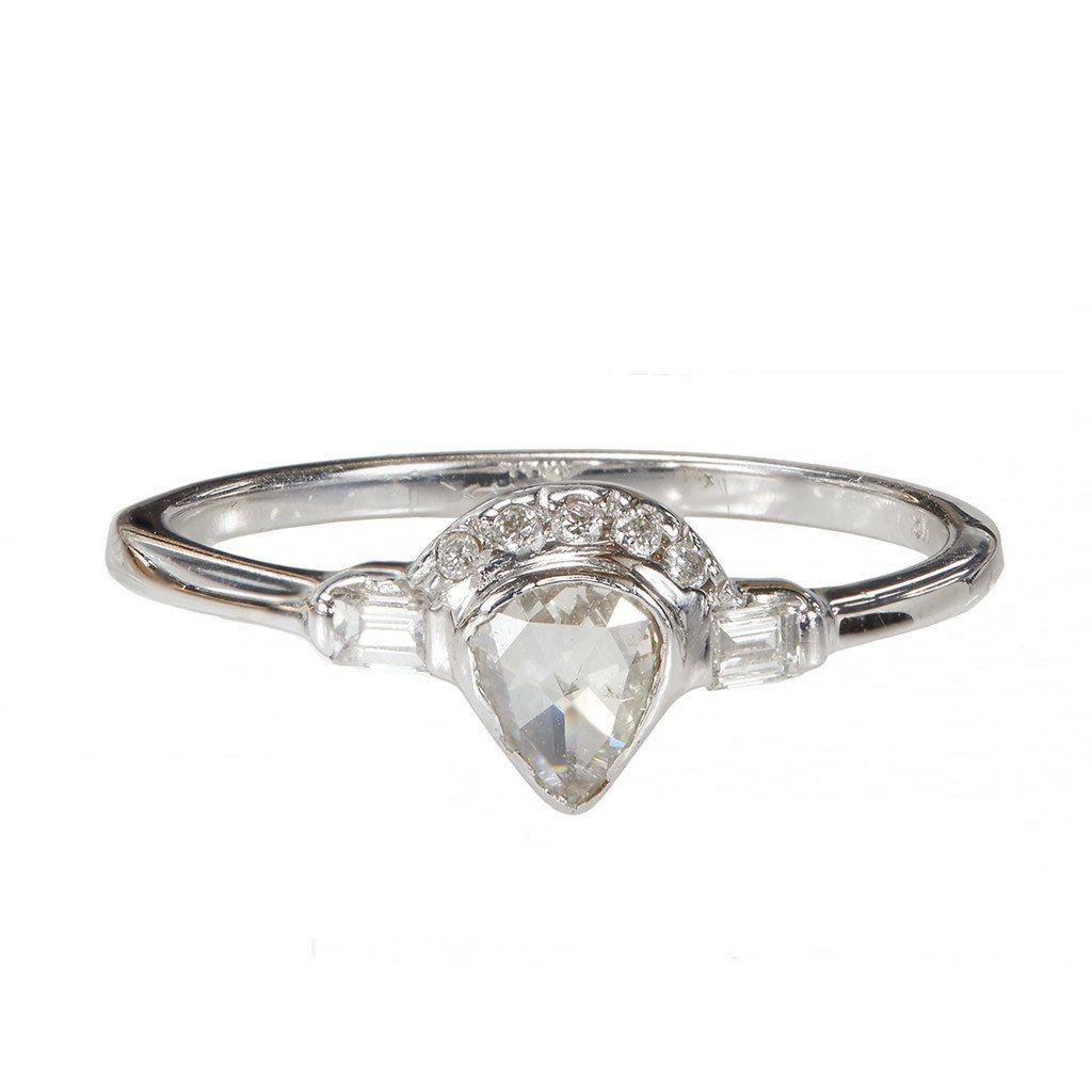 Xiao Wang Galaxy Pear Rose Cut Diamond Ring