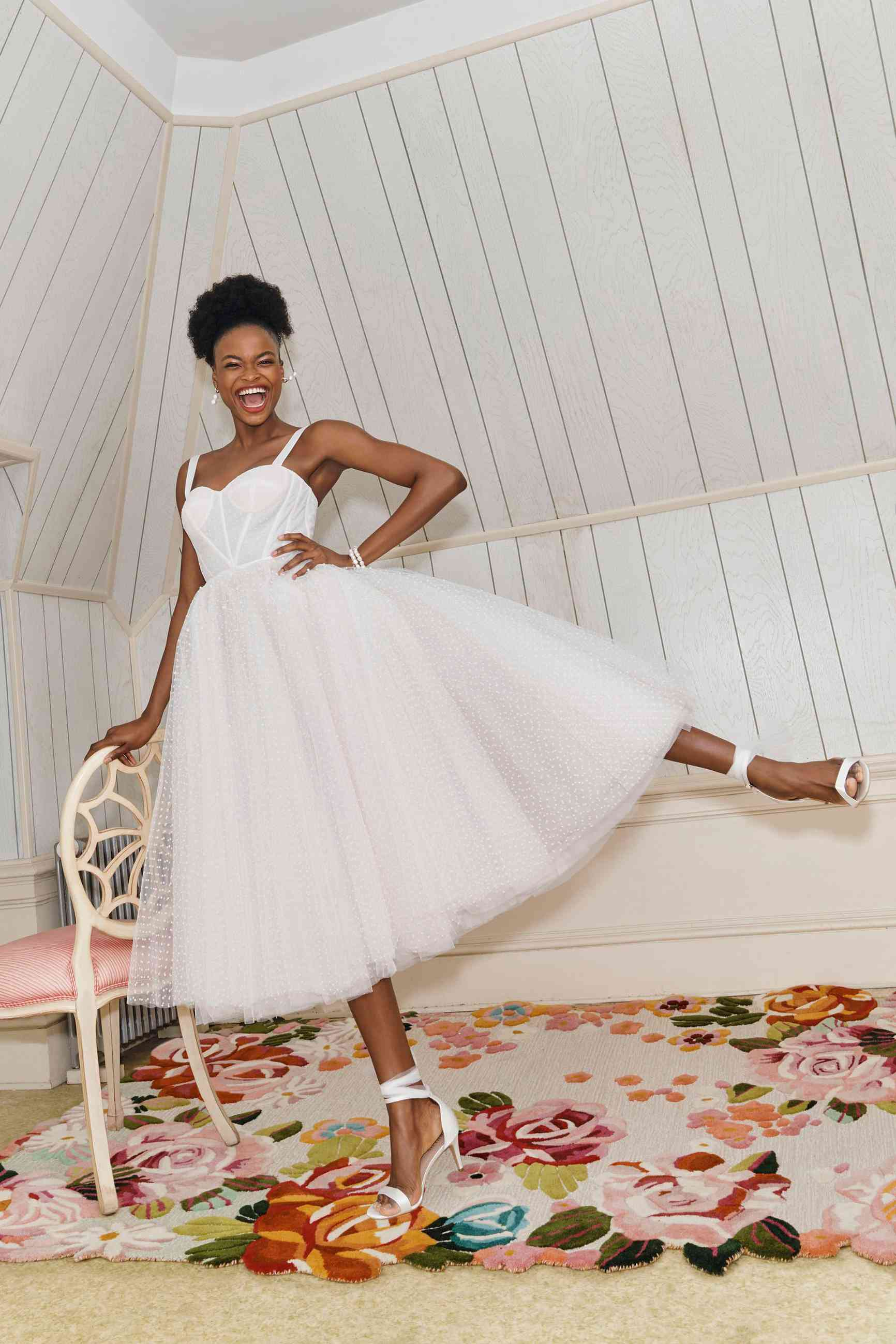 tea-length gown