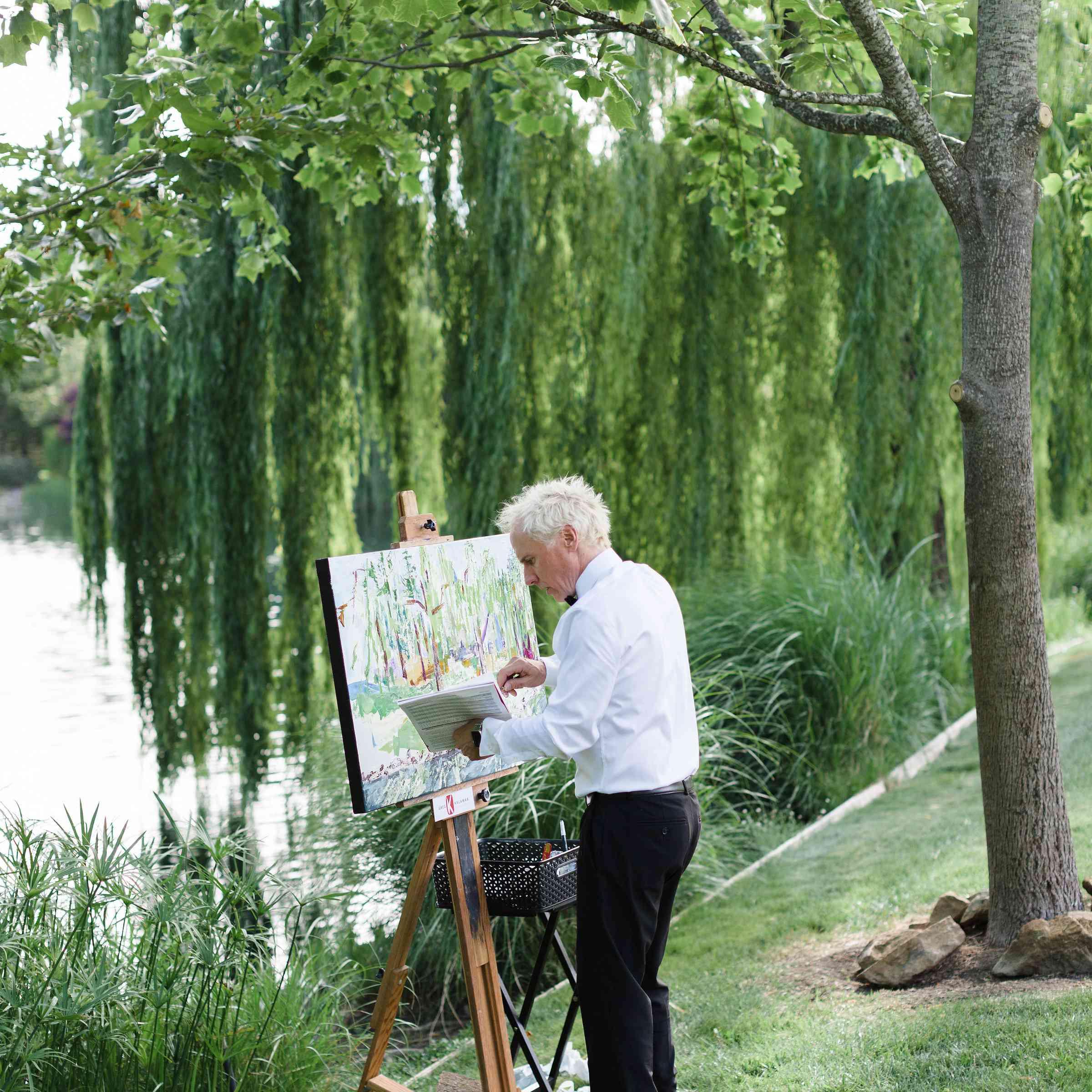 live painter wedding