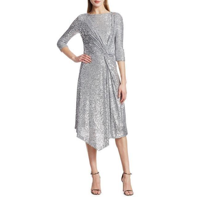 St. John Sequin Mesh Dress