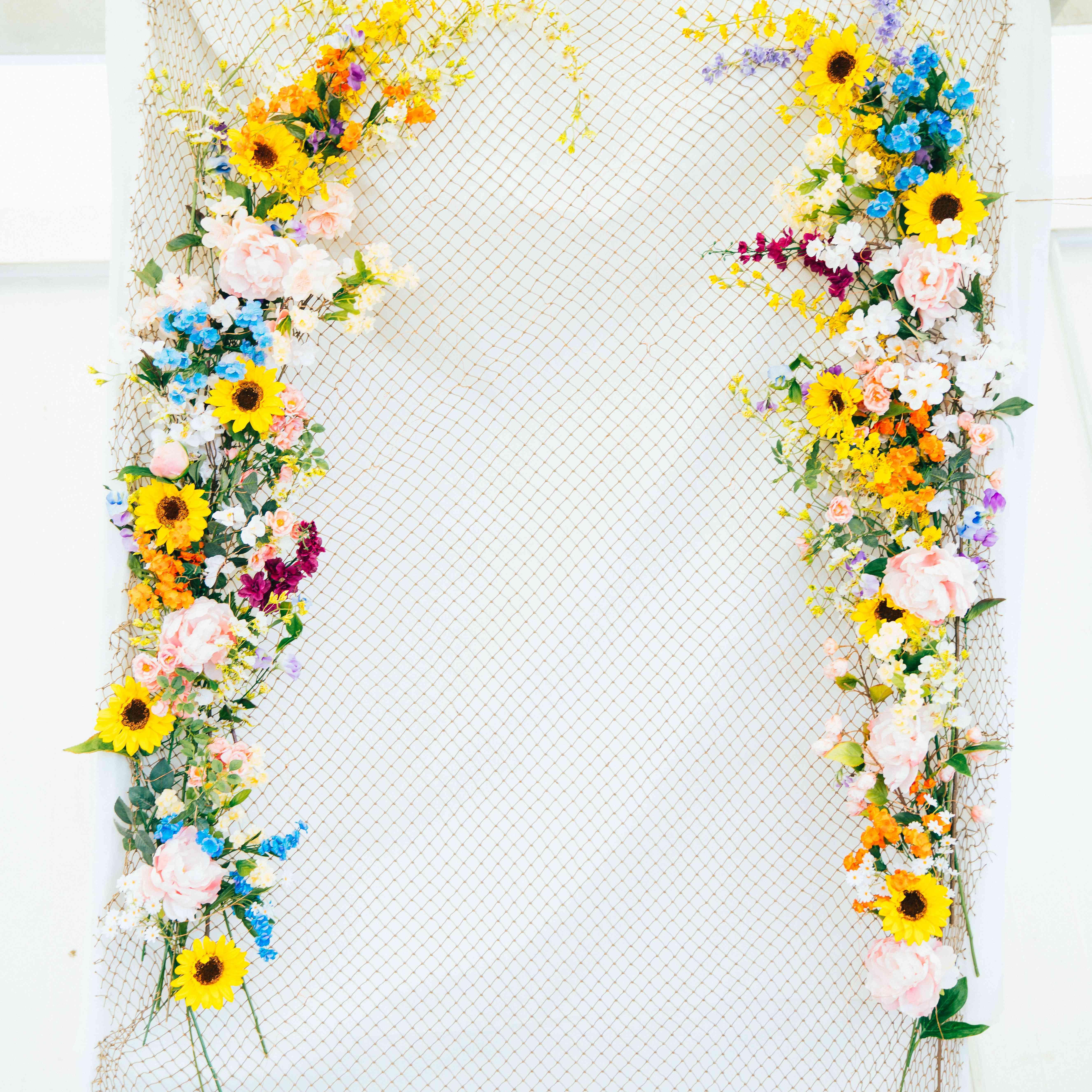emma myles wedding flower wall