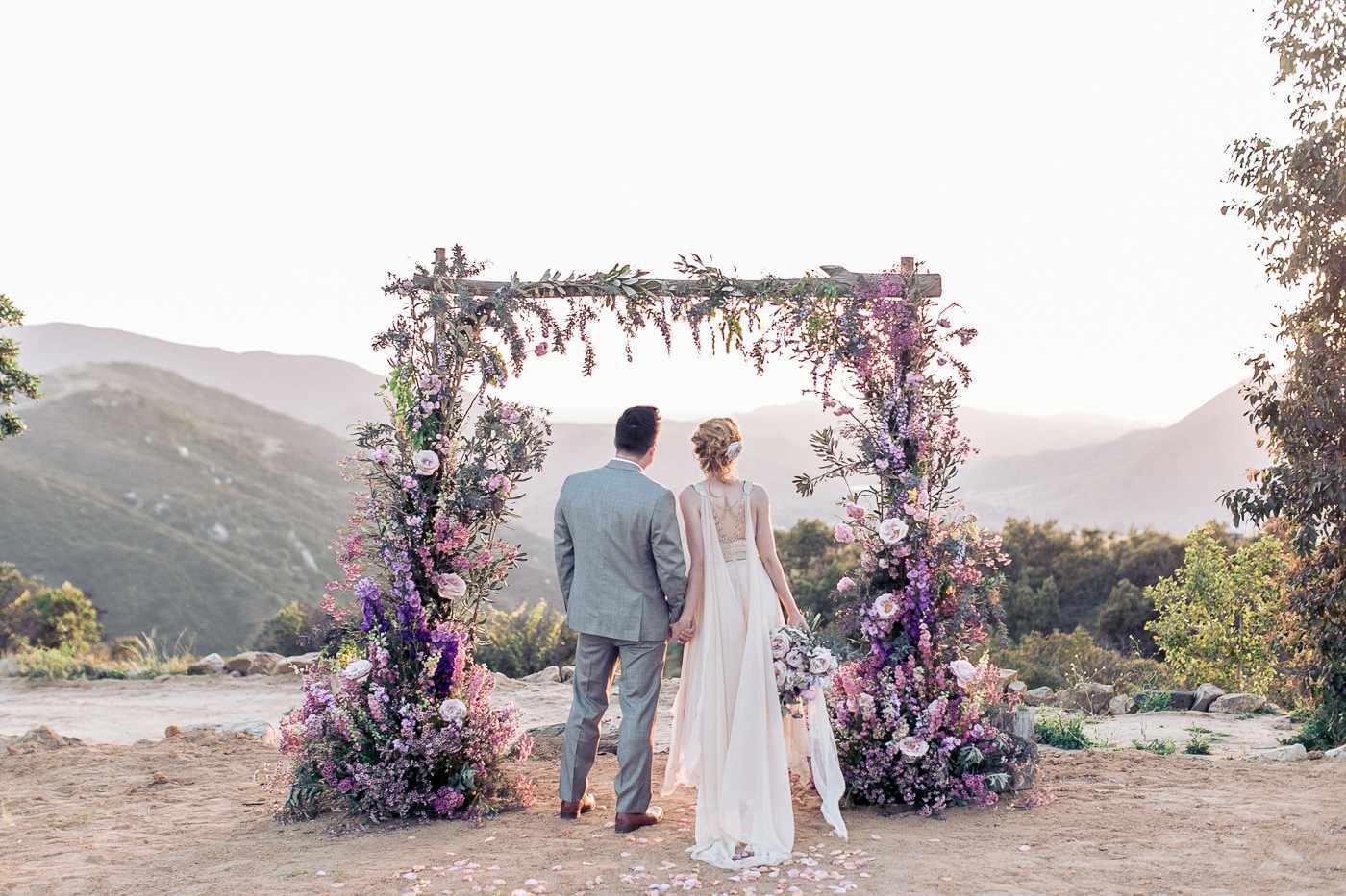 Lavender Wedding Ceremony Arch