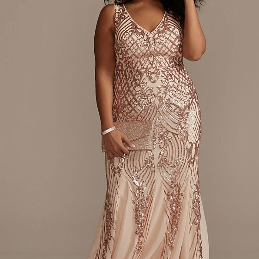 rose gold mother of the bride dress