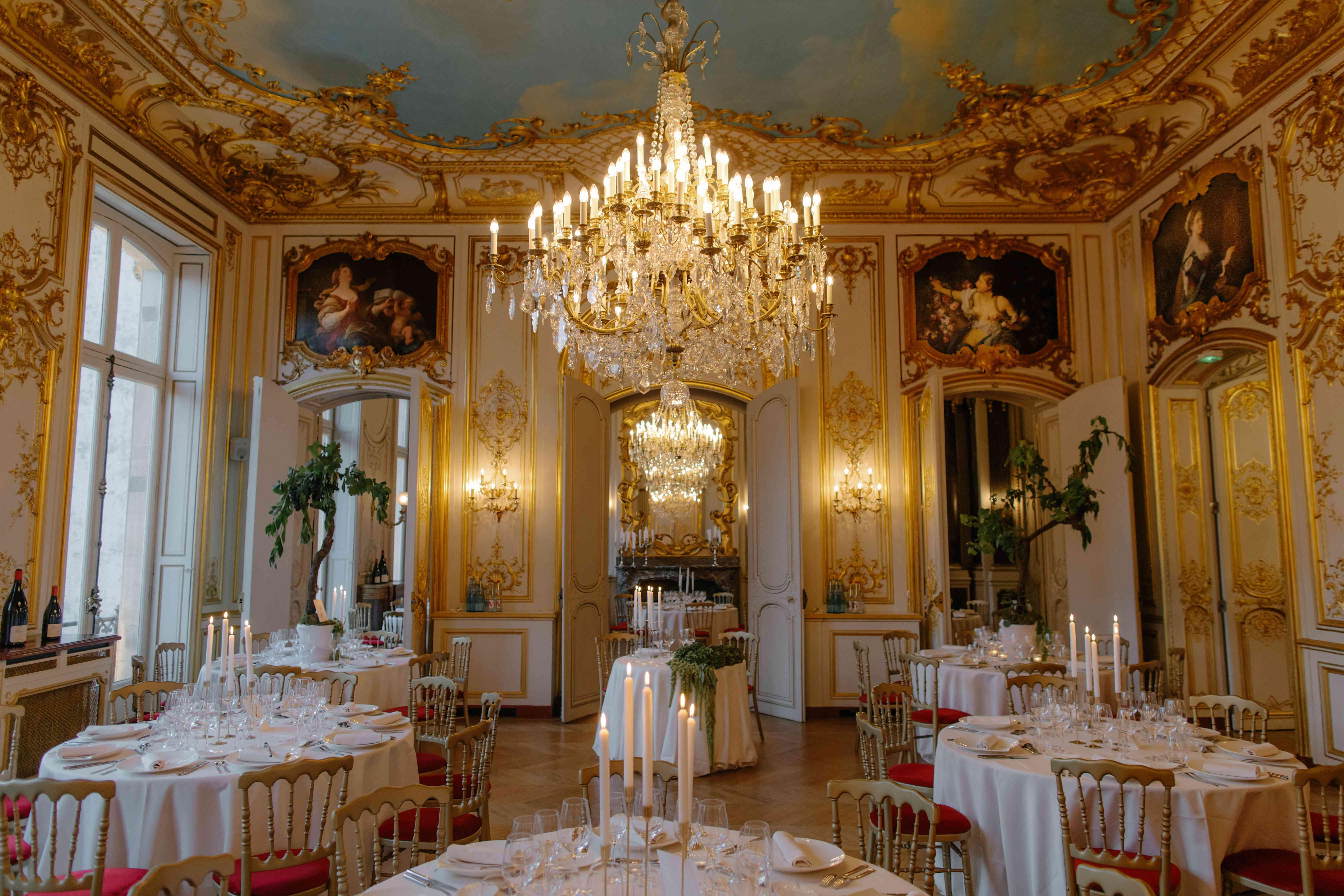 Paris wedding reception